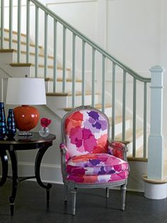 LOVE the fabric on this chair!