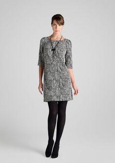 Black ad White tunic dress
