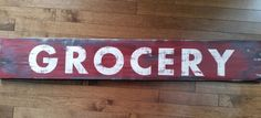 Rustic Sign - Grocery, Country sign, Kitchen Sign, Housewarming Gifts, Farmhouse Decor, Farmhouse Sign, Distressed Sign