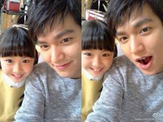 Cute Selfies of Lee Min Ho and a Child Actor Released
