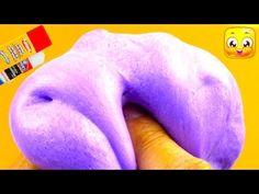 How To Make Fluffy Slime With Glue Stick DIY No Borax, Eye Drops, Baking Soda, Liquid Starch - YouTube