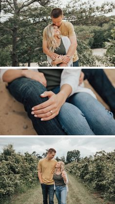 CLICK to see the whole shoot! Engagement Photo Outfits, Engagement Session, Engagement Photos, Dark Jeans, Couple Shoot, Light In The Dark, Blue Grey, Michigan, Photo Ideas