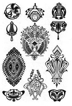 Орнаменты которые можно использовать как для росписи стен, так и для тату. http://stella-stroy-dv.ru