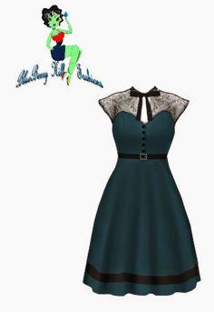 Rockabilly Teal Dress | Blueberryhillfashions.com