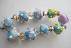 11 assorted Vintage Glass Lampwork  Beads with by StarPower99, $9.99