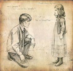 dr. who artwork | doctor_who_fan_art_matt_smith_eleven_amy1