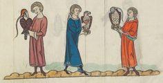 FRÉDÉRIC II , traité de fauconnerie , traduction française, faite à la demande de Jean, sieur de Dampierre et de Saint-Dizier, et de sa fille Isabelle.  Date d'édition :  1201-1300  Français 12400  Folio 177r