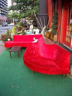 Awesome Mid Century 2 Piece Sofa. Hollywood By FrayedKnotInc
