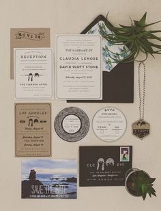 graphic invitation set