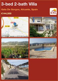 3-bed 2-bath Villa in Gata De Gorgos, Alicante, Spain ►€144,500 #PropertyForSaleInSpain