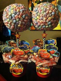Cars Lollipop Tree custom made Party Candy by SweetLotusTreats, $67.00