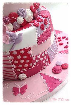 pastels, patchwork cake, birthdays, cake decor, patchwork cupcakes, pasteles decorados, buttons, decor cake, birthday cakes