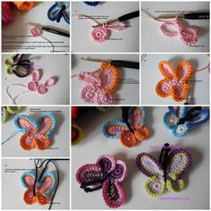 DIY-Lovely-Crochet-Butterflies-3 - I'll just follow along with the pictures