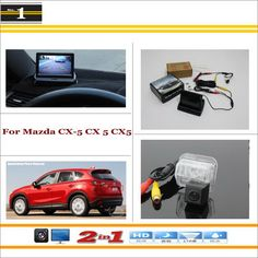 """Auto Back UP Reverse Camera + 4.3"""" Color LCD Monitor = 2 in 1 Rearview Parking System - For Mazda CX-5 CX 5 CX5"""