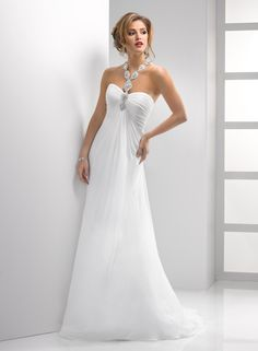Sleek and sexy Sottero and Midgley Gown at Mary Me Bridal.