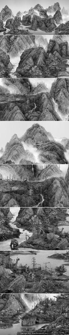 Digital Collage – Yang Yongliang