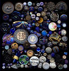 1700 Plus Antique Vintage & Modern Buttons Metal Glass Bakelite China MOP Rhinestone Goodyear Sterling. $3,200.00, via Etsy.