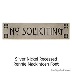 At Atlas Signs we offer coordinating signs that match our address plaques.  Now you can have an elegant no soliciting, beware of dog, or no trespassing sign that doesn't clash with your house.  Proudly made in the USA!