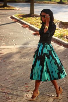 "ecstasymodels: "" DIY Jacquard Full Skirt BeauteJadore "" BGKI - the #1 website to view fashionable & stylish black girls"