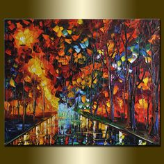 Original Textured Palette Knife Landscape Painting Oil on Canvas Contemporary Modern Art by Willson Lau Original Artwork, Original Paintings, Contemporary Landscape, Dream Decor, Landscape Paintings, Landscape Art, Lovers Art, Diy Art, Oil On Canvas