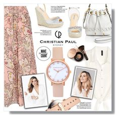 """Christian Paul Watches"" by sans-moderation ❤ liked on Polyvore featuring H&M, Paul & Joe, Milly, Badgley Mischka, Nude by Nature, cute, jewelry, watches and christianpaul"