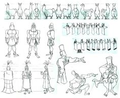 Living Lines Library: The Emperor's New Groove (2000) - Model Sheets  Production Drawings