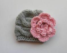 SUMMER SALE 15 % SALE Newborn Baby Beanie Hat Knit by KnittingLand