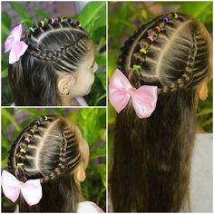 68 ideas hair styles for medium length hair easy for school kids for 2019 Baby Girl Hairstyles, Princess Hairstyles, Hairstyles For School, Cute Hairstyles, Braided Hairstyles, Short Hairstyle, Hairstyle Ideas, Hair Color Auburn, Hair Color Dark