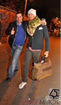 Con Cristian Marchi in giro per via Libetta...