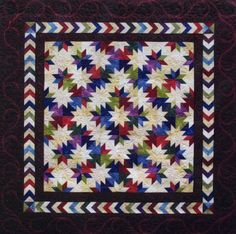 hunter's star quilt pattern | pattern award winning quilt pattern using the rapid fire hunter s star ...