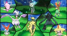 OH look Some shiny locked legendaries ...I mean not all of them are But at the very least I know Shiny Celebi is impossible to get legitimately Buuuuuuut Maybe they're saving it for sometime cool Like something to do with Explorers of Sky? Grovyle X Celebi is the best ship in that game...!