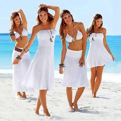 Women Convertible Multi Use Beach Cover Up - 11 Colors