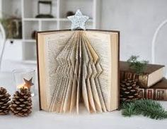 Image result for how to do a bookfolded tree
