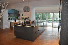Diane Berry Kitchens - Client Kitchens: Mr & Mrs Smallwood - Alno Kitchen in Quartz grey gloss lacquer Alno Kitchen, Kitchen In, German Kitchen, Stylish Kitchen, Kitchen Units, Kitchen Design, Kitchen Ideas, Mr Mrs, Grey Gloss Kitchen