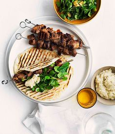 Grilled cumin and chilli lamb kebabs