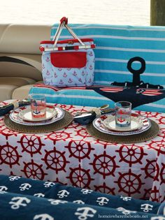 Anchors Aweigh and Nautical Fun on the Pontoon! | homeiswheretheboatis.net #boat