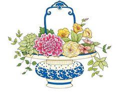 Vintage bowl of flowers