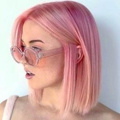 Use to wear our best pink hair color shades to make your bob looks more cute tha. - Use to wear our best pink hair color shades to make your bob looks more cute than ever. Pastel Pink Hair, Hair Color Pink, Cool Hair Color, Pink Short Hair, Dyed Hair Pink, Short Colorful Hair, Pink Hair Colors, Blonde Hair With Pink, Amazing Hair Color