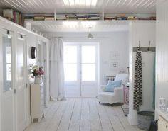 white cabin