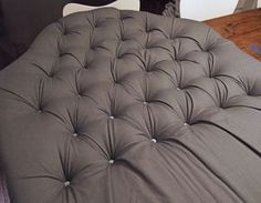 DIY Tufted Headboard | Cape27Blog.com Yess!! I so love the way they did theirs verses. Way simpler ☺