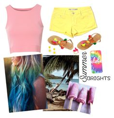 """""""Summer brights"""" by smilingkitten ❤ liked on Polyvore featuring Kate Spade, Tractr, Glamorous and summerbrights"""