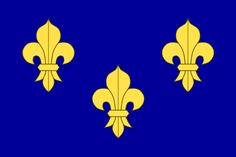 Blue capetian banner (still used during the French Renaissance) | Now flag of Île-de-France