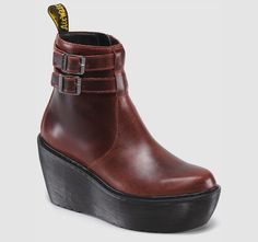 #CAITLIN Dr #Martins #platform #boots in #oxblood. want want want