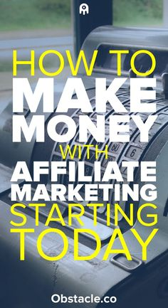 Affiliate marketing is a great way to make money online and from home. Here is how to make money with affiliate marketing.