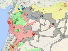 Carte de la situation en Syrie le 14 mars 2016 – Source: http://syria.liveuamap.com/