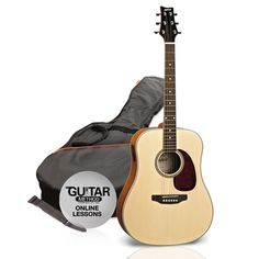 Ashton: SPD25 Acoustic Guitar - Natural Finish. £141.70. Also available in Black and Tobacco Sunburst.