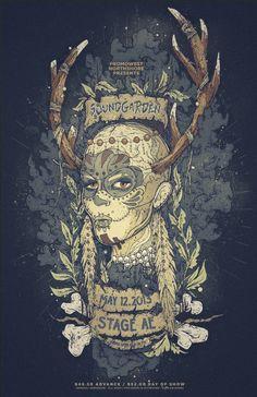 Soundgarden Stage AE Poster by Nina Zivkovic, via Behance