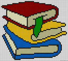 Books perler bead pattern