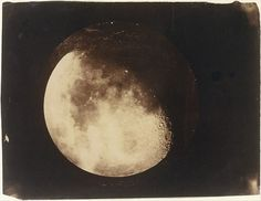 "The Moon, John Adams Whipple, circa salted paper print from glass negative. From the Metropolitan Museum of Art: ""In December John Whipple made his first photograph of the moon, a. John Adams, History Of Photography, Museum Photography, First Photograph, Grand Palais, Collaborative Art, Moon Art, Antique Photos, Vintage Images"