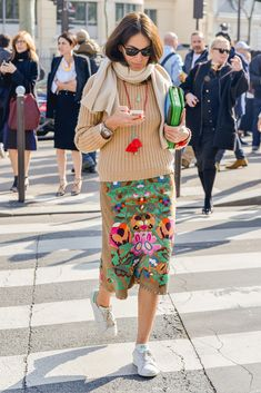 Viviana Volpicella Paris street fashion SS2015